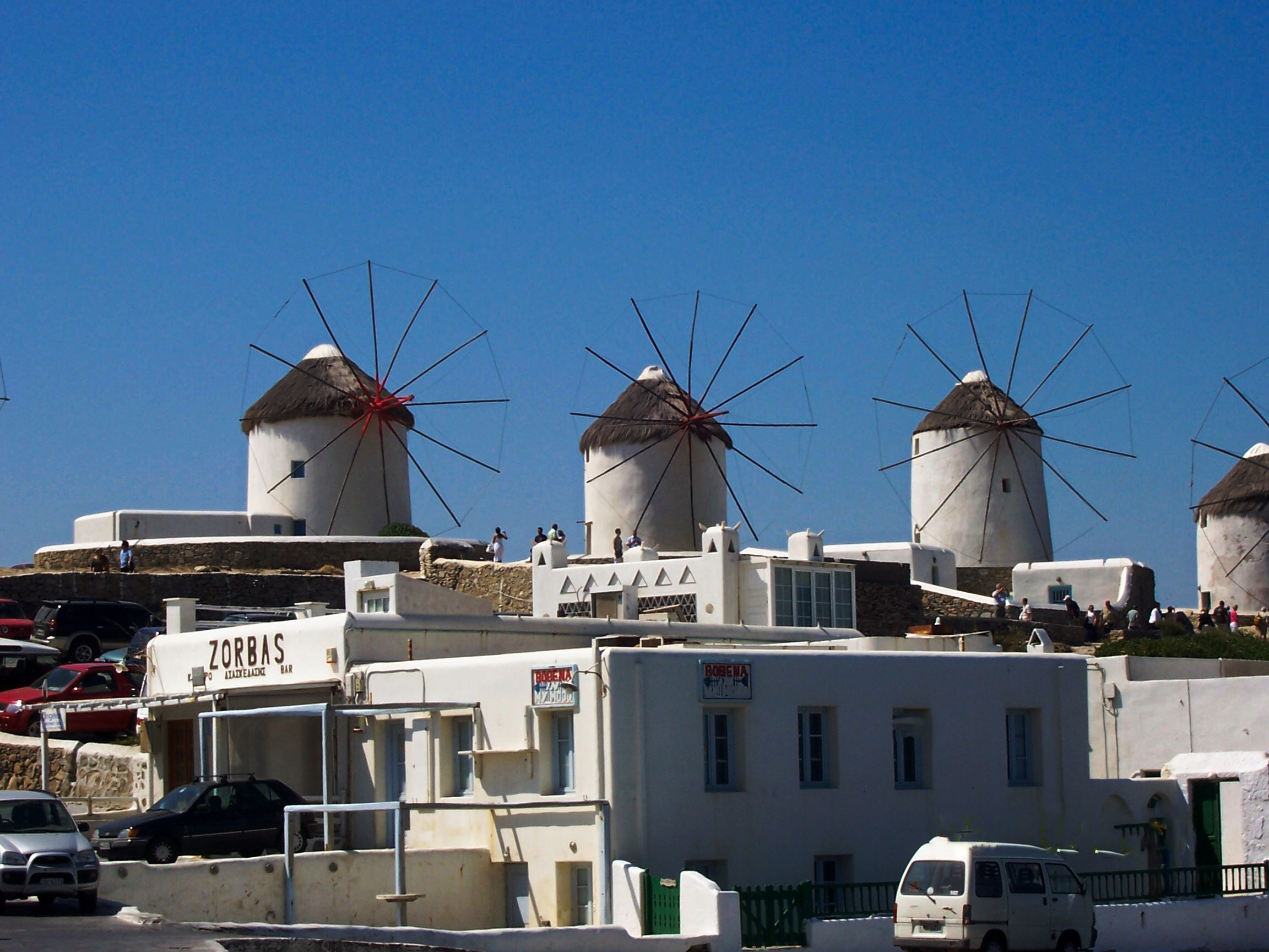 Windmills in Mykonos, Greece