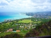 View from the top of Diamond Head Oahu, Hawaii