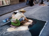 Street Artist in Florence, Italy