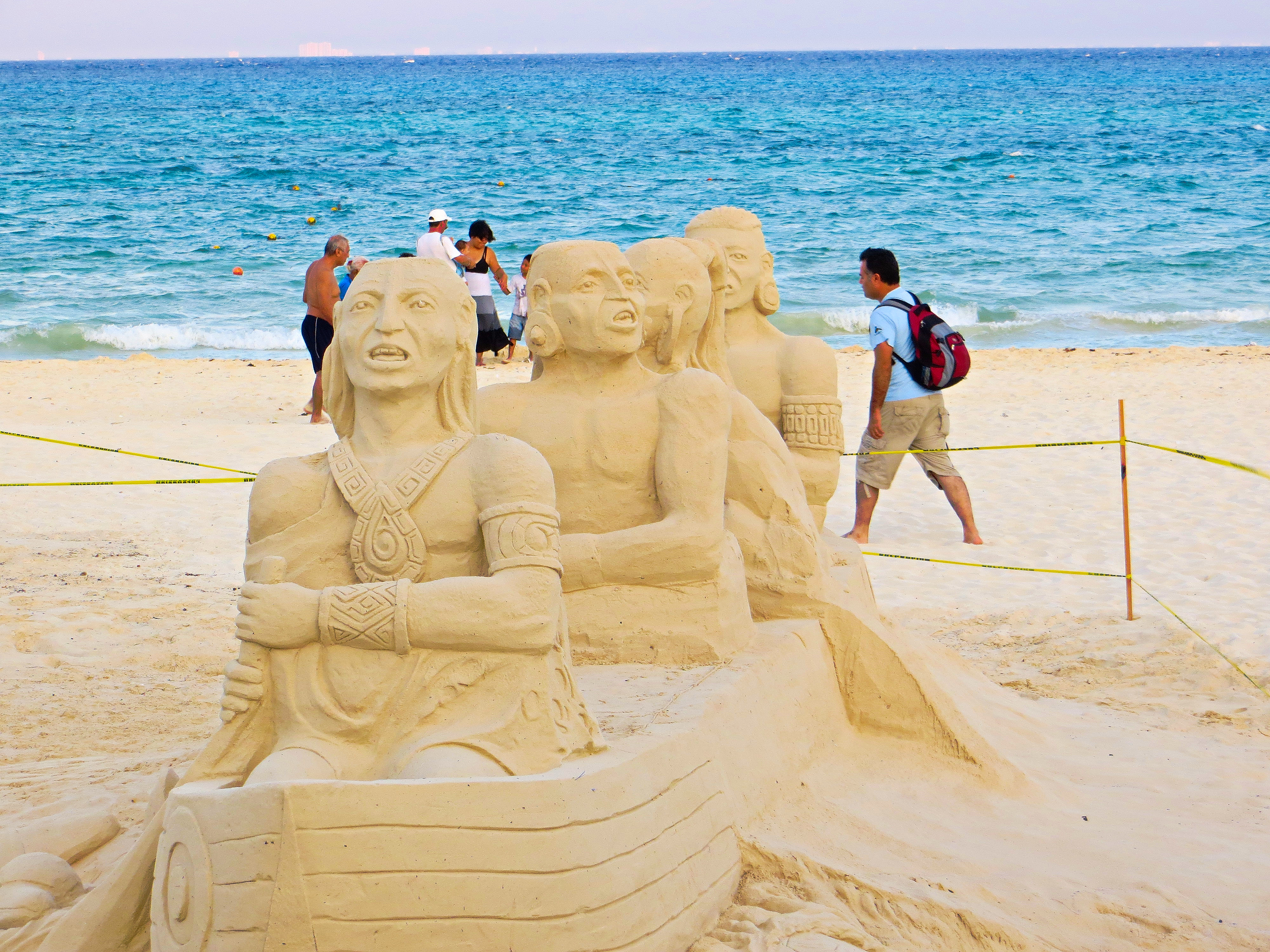 Sand Sculptures, Playa Del Carmen