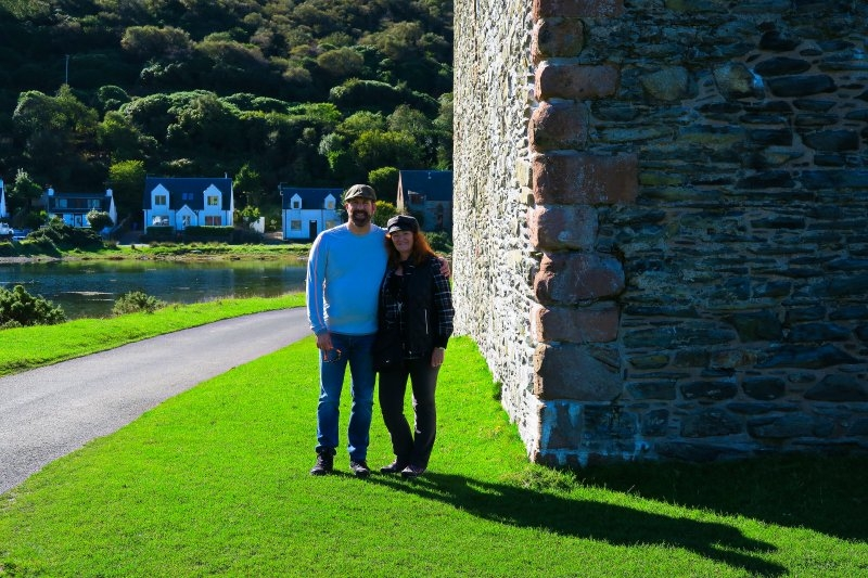 In front of Lochranza Castle, Isle of Arran