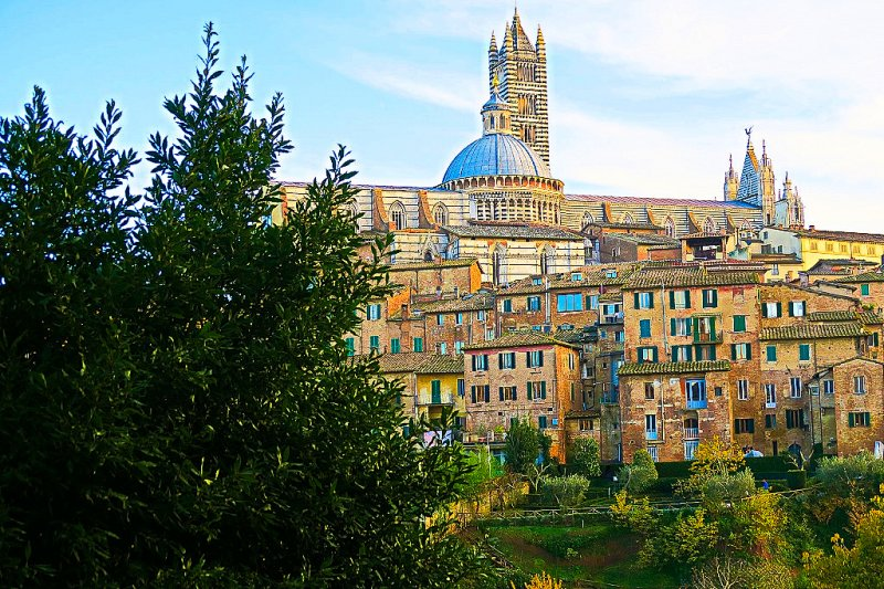 Siena, Italy views of the old city center