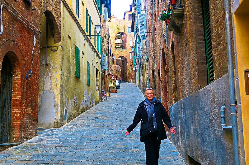 Down Siena's Cobblestoned Streets