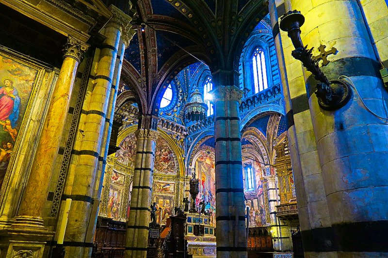 Inside the Cathedral of Siena,Italy