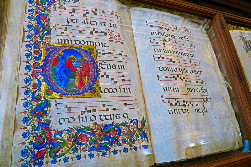 Inside the Library at The Cathedral in Siena, Italy