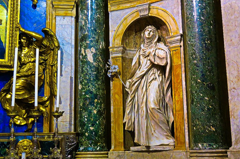 Mary Magdelene Sculpture by Bernini. Siena, Cathedral