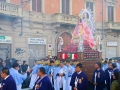 Religious procession in Turin, Italy